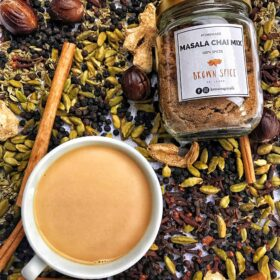 Brown Spice Masala Chai Mix, purely made with spices to a time tested recipe in small batches
