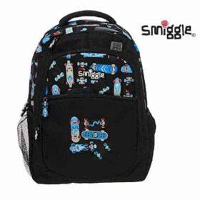 Authentic Smiggle Snaps Standard Size Kids Backpack Skateboard