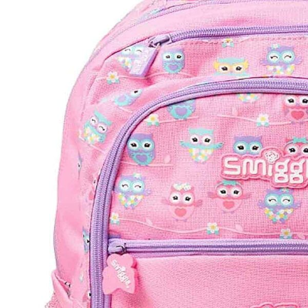 Authentic Smiggle Deja Vu Owl Standard Size Kids Backpack