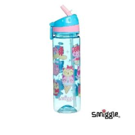 Authentic Smiggle Says Drink Up Cats & Cakes Water Bottle (660ml)
