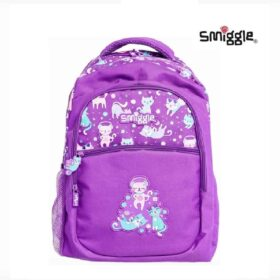 Authentic Smiggle Snaps Cat Standard Size Kids Backpack