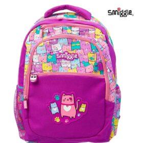Authentic Smiggle Deja Vu Cat Standard Size Kids Backpack