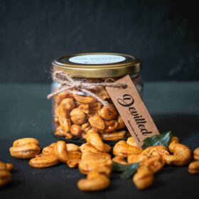 Devilled Cashew Jar 190g from the Nuttery