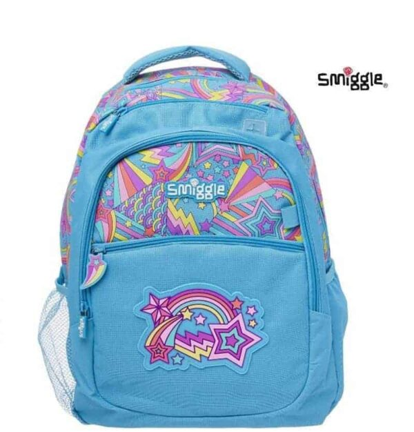 Authentic Smiggle London Evening Rainbow Standard Size Kids Backpack