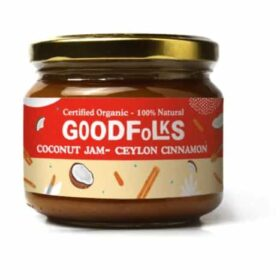 Certified organic vegan and gluten-free coconut jam with Ceylon Cinnamon